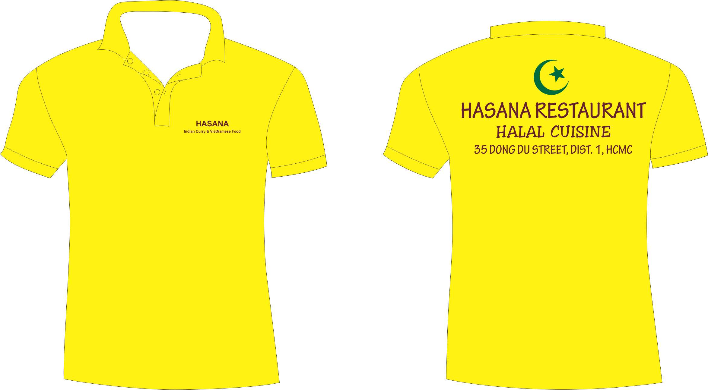 Đồng phục nhà hàng HASANA quận1